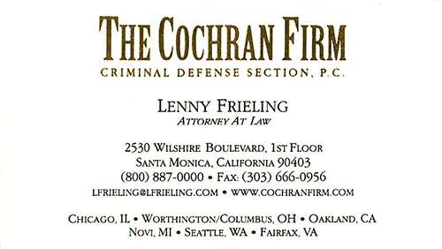 Business Card from The Cochran Firm